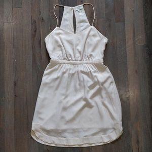 Silk Daylight Pale Oyster Sun Halter Dress 0 XS